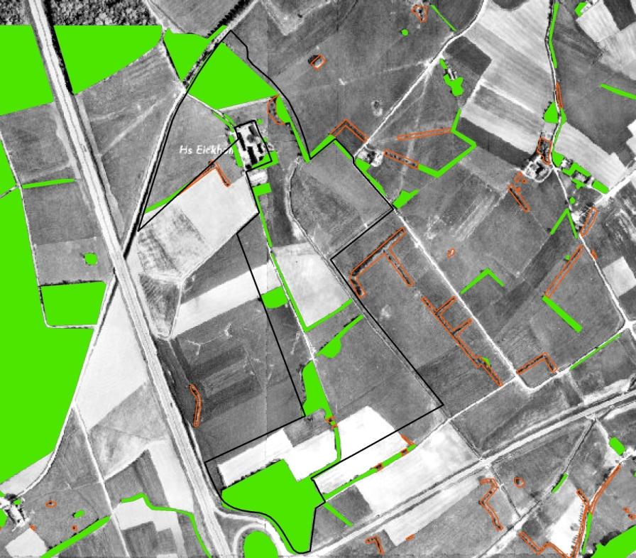 Gebiet mit Umfeld um 1952 (Luftbildbefliegung 1951 bis 1980). Regionalverband Ruhr, CC BY-NC-SA 4.0