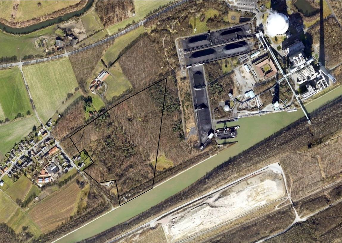 Heute sind diese landwirtschaftlichen Flächen weitgehend aufgeforstet und nur noch wenige Überreste zeugen von der Vergangenheit (Luftbildbefliegung 2011 bis 2016). Regionalverband Ruhr, CC BY-NC-SA 4.0