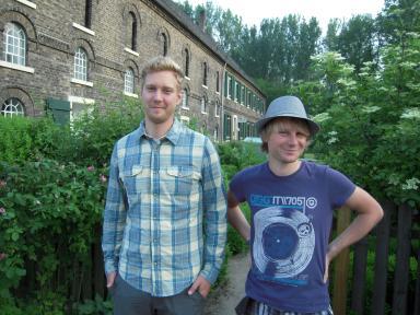 unsere neuen Praktikanten Jan Werner und Michael Nowak