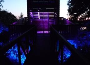 ... begeisternde Beleuchtungseffekte auf dem gesamten Gelände ...