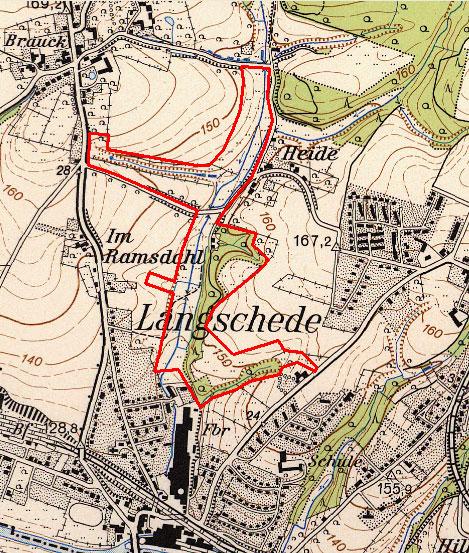 Topographische Karte 1973