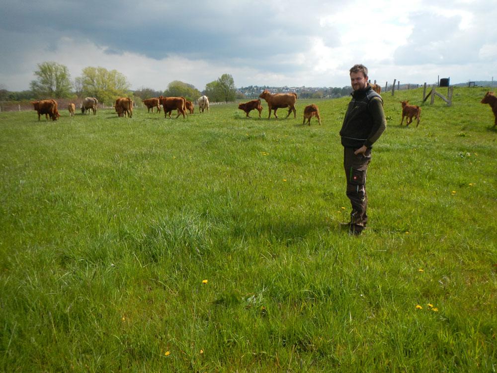 Landwirt Sebastian Becker
